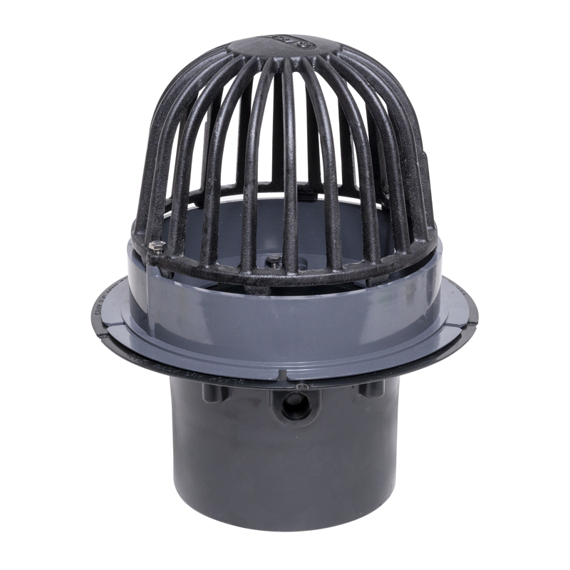 "Oatey® 6"" ABS Roof Drain w/ Cast Iron Dome & Dam Collar"