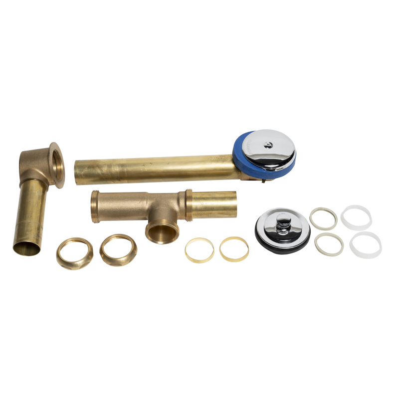 Dearborn® Full Kit, Brass Tubular - 17 Ga. Uni-Lift Stopper w/ Chrome Finish