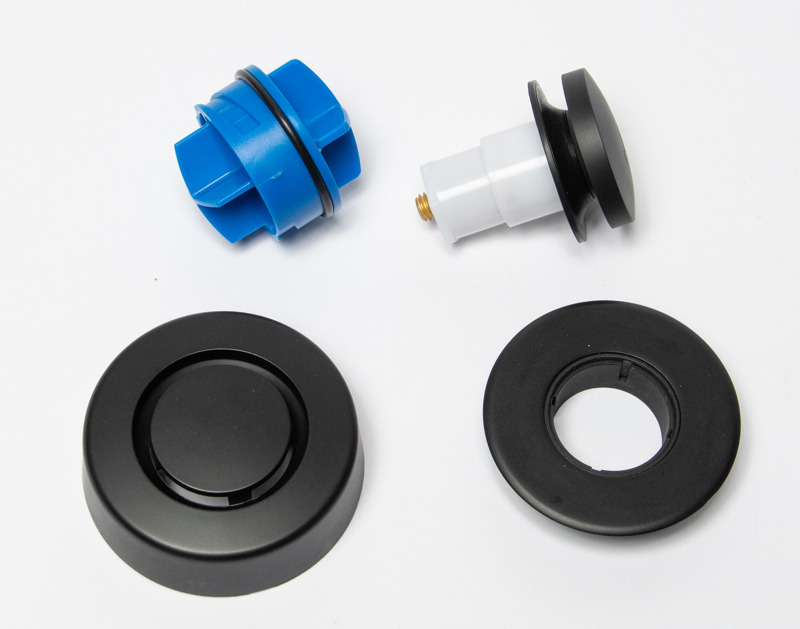 Dearborn True Blue Trim Kit, Touch Toe Stopper, Matte Black