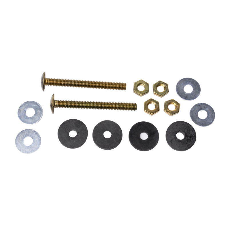 078864680256_H_001.jpg - Harvey™ 5/16 in. x 3 in. Brass Tank Bolt Kit with Hex Nuts
