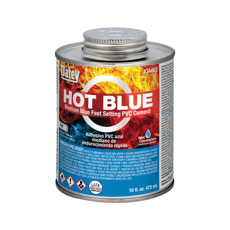 Oatey® 16 oz. PVC Medium Body Hot Blue Cement