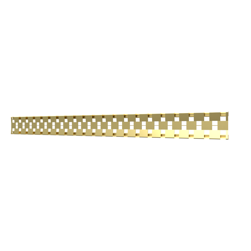 10_Linear_Covers_Cosmo_Brushed_Gold_Medium_H_001.png - QuickDrain Linear Drain 40 in. Cosmo Cover in Brushed Gold