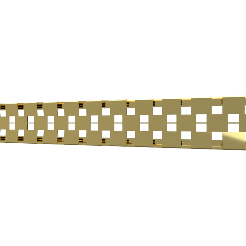 10_Linear_Covers_Cosmo_Polished_Gold_Small_H_001.png - QuickDrain Linear Drain 18 in. Cosmo Cover in Polished Gold
