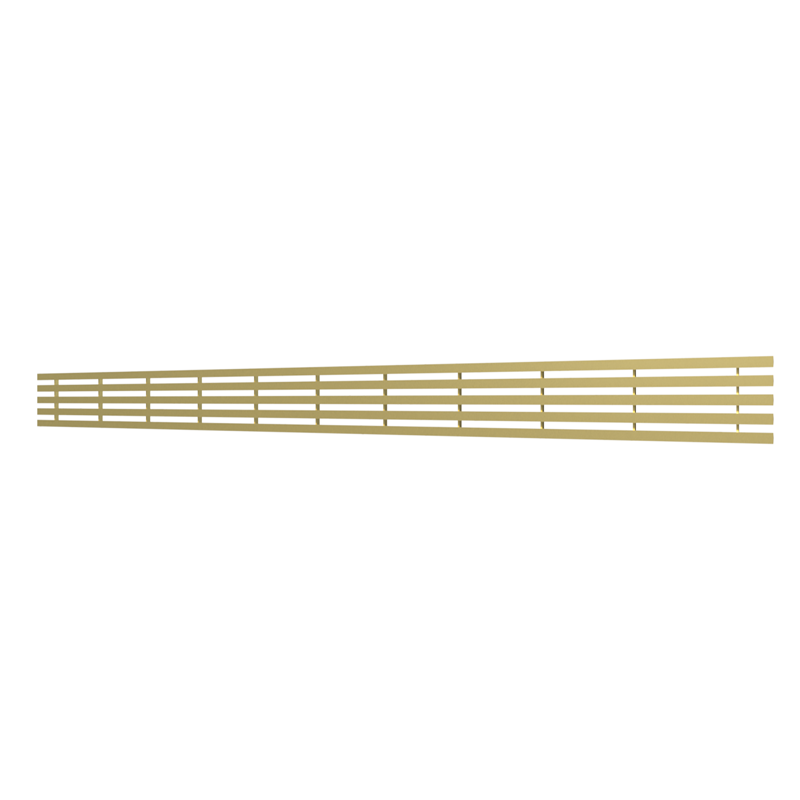 10_Linear_Covers_Lines_Brushed_Gold_Medium_H_001.png - QuickDrain Linear Drain 40 in. Lines Cover in Brushed Gold