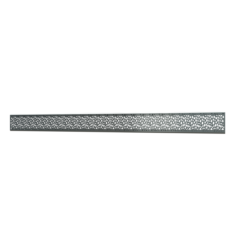 10_Linear_Covers_Stones_Brushed_Stainless_Steel_Large_H_001.png - QuickDrain Linear Drain 18 in. Stones Cover in Brushed Gold