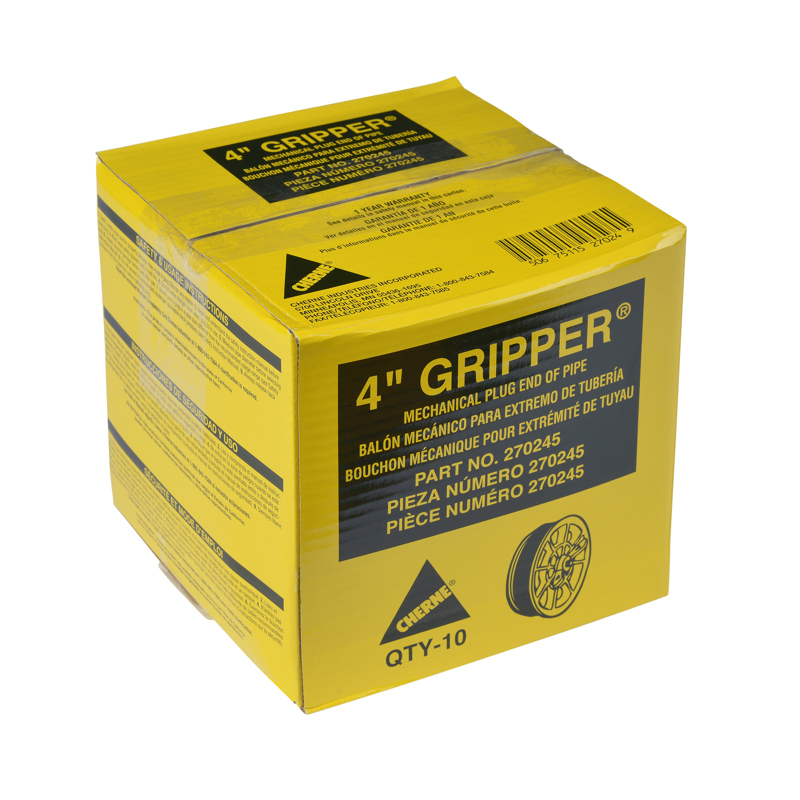 "Cherne® 4"" End of Pipe Gripper® Plug"