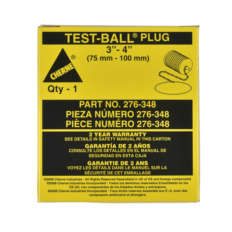 "Cherne® 3""- 4"" Multi-Size Test-Ball® Plug"