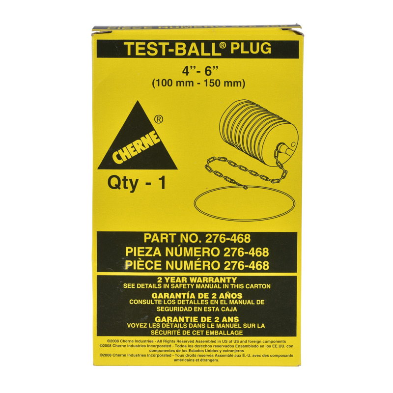 "Cherne® 4""- 6"" Multi-Size Test-Ball® Plug"