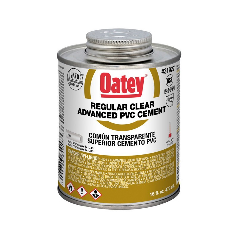 Oatey® Regular Clear Advanced PVC Cement