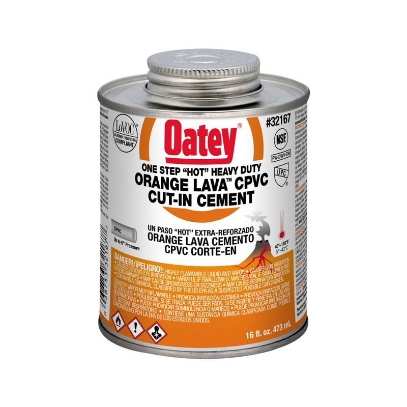 Oatey® Orange Lava CPVC Cut-In Cement