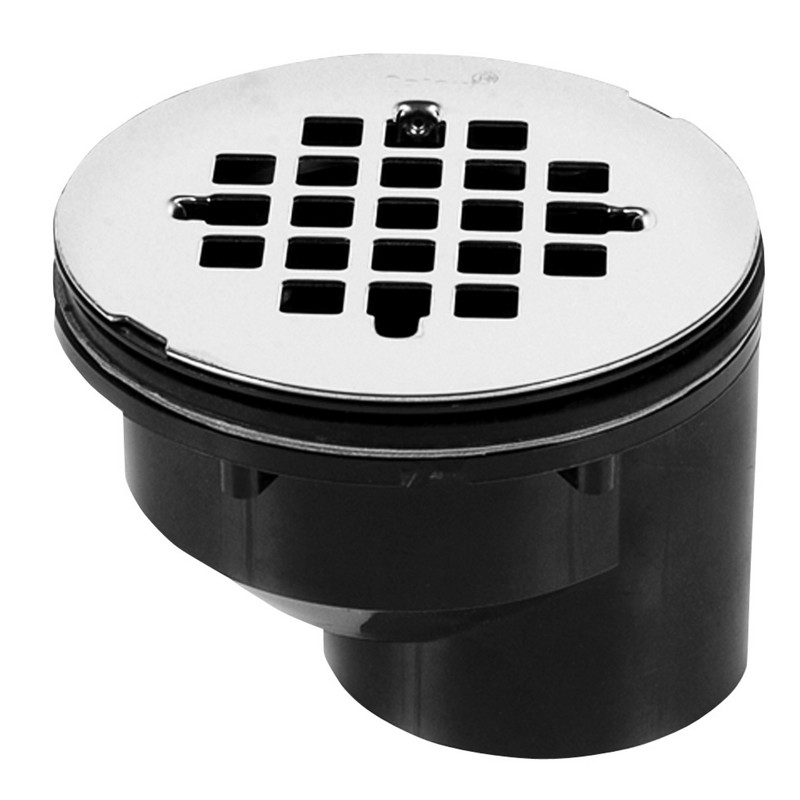 42788.jpg - Oatey® 2 in. Offset ABS Shower Drain with Stainless Steel Strainer