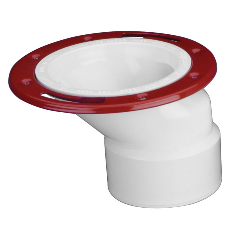 Oatey® 3 in. or 4 in. PVC offset closet flange with metal ring w/o test cap