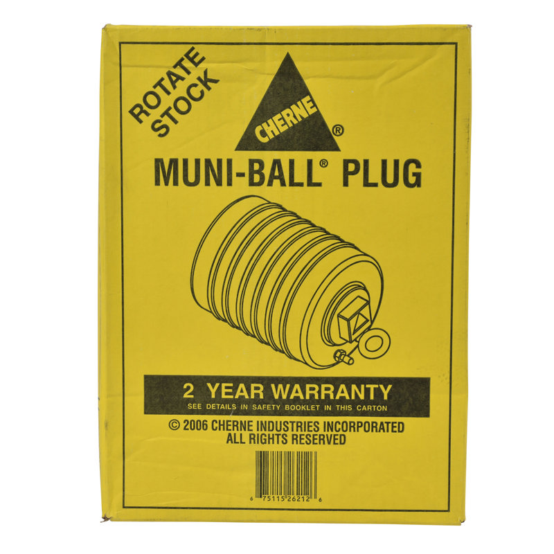 Cherne® 12 in. Muni-Ball® Plug, 3 in. Bypass