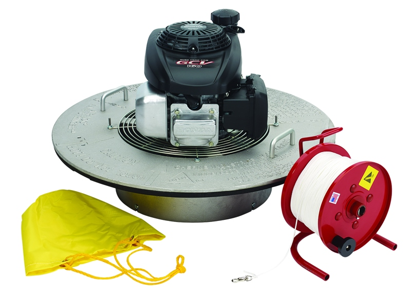 675115303317_H_001.jpg - Cherne® Air-Loc Fan Assembly With Briggs & Stratton Engine, 1000 ft.  Nylon Rope And Reel, 6-10 in. Parachute