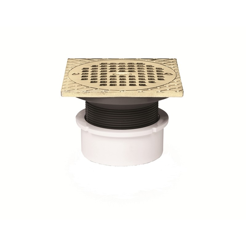 """72047_1.jpg - Oatey® 3"""" or 4"""" PVC General Purpose Drain w/ 5"""" BR Grate & Square Ring"""