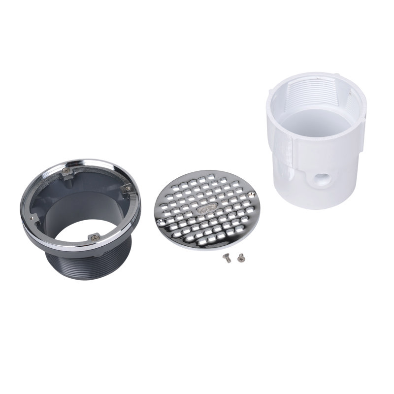 """72097_h.jpg - Oatey® 3"""" or 4"""" PVC General Purpose Drain w/ 5"""" CHR Grate & Round Ring"""