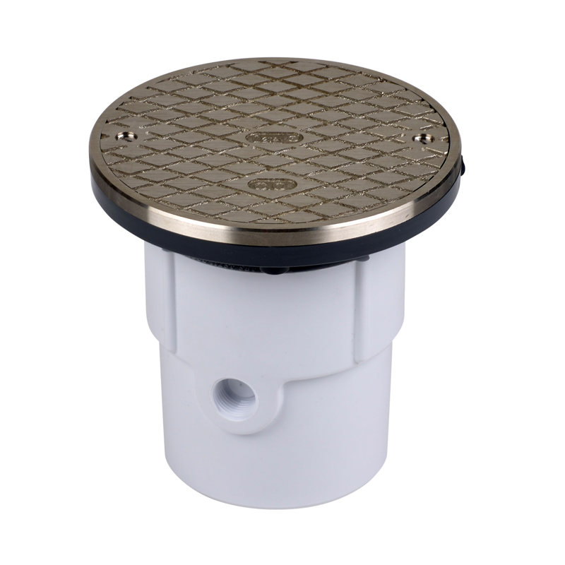 """74167_h.jpg - Oatey® 3"""" or 4"""" PVC General Purpose Cleanout w/ 6"""" NI Cover & Round Ring"""
