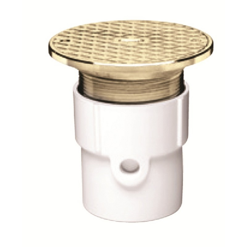 74217.jpg - Oatey® 3 In. or 4 In. PVC General Purpose Cleanout w/ 6 In. Cast BR Cover & Round Top