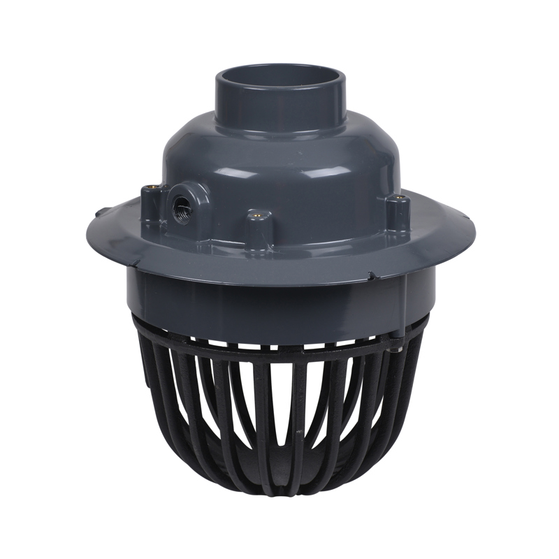 """Oatey® 3"""" or 4"""" PVC Roof Drain w/ Cast Iron Dome & Dam Collar"""