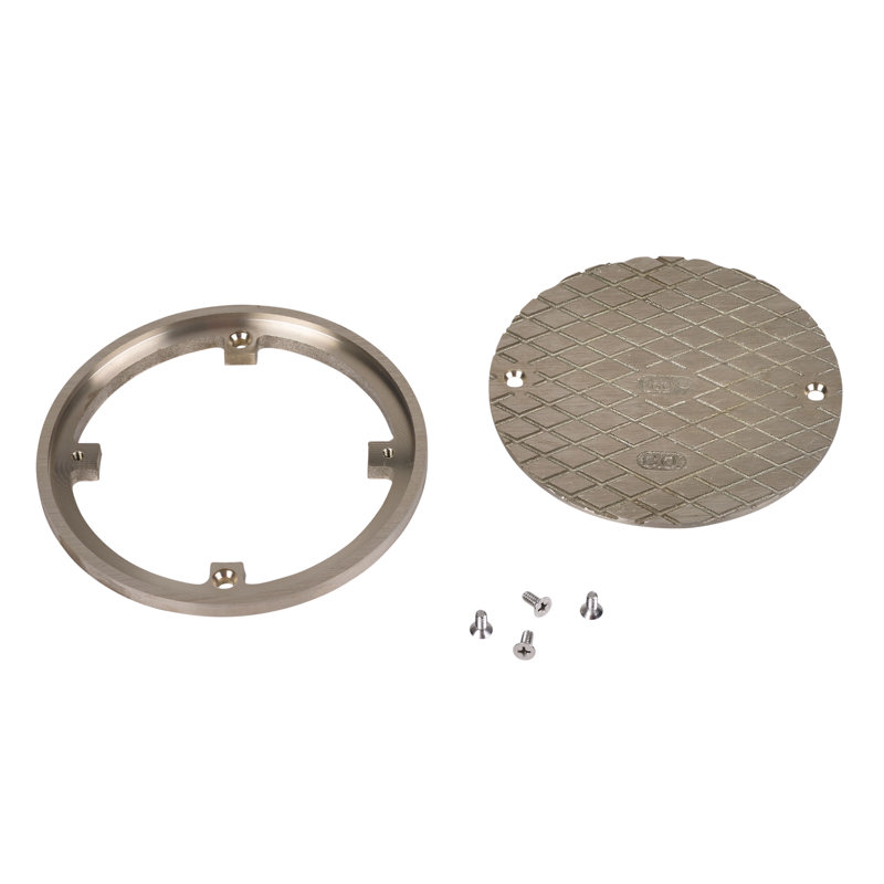 """Oatey® 6"""" Round NI BR Cover & Ring"""