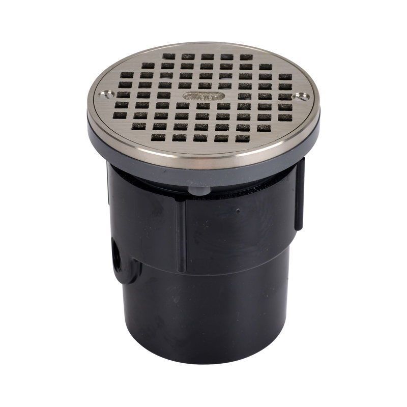 """Oatey® 3"""" or 4"""" ABS General Purpose Drain w/ 5"""" NI Grate & Round Ring"""