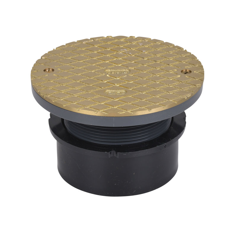"""84129_h.jpg - Oatey® 4"""" ABS Hub Base General Purpose Cleanout w/ 6"""" BR Cover"""