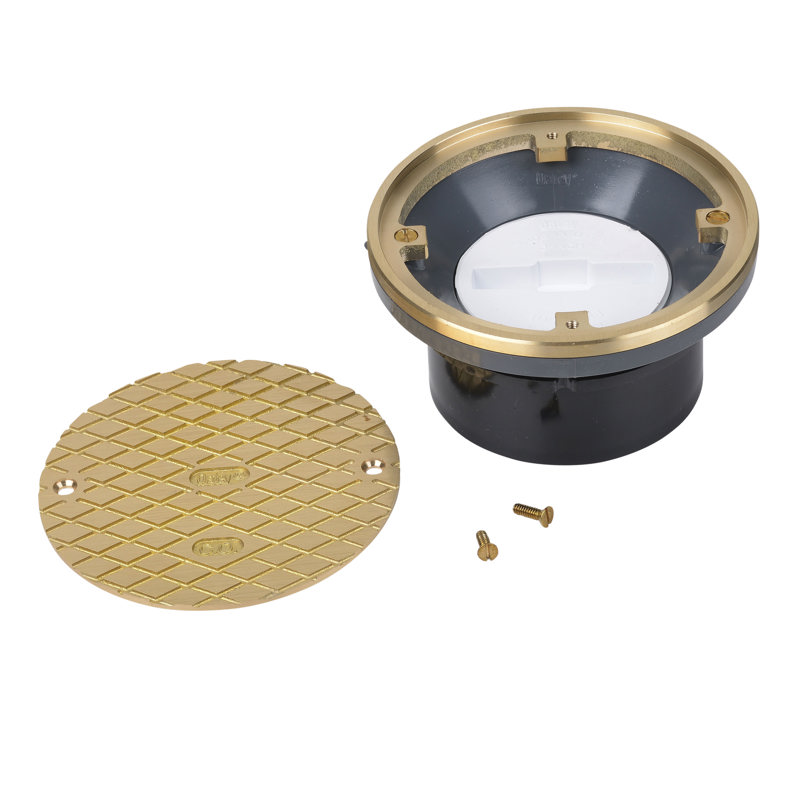 """84139_h.jpg - Oatey® 4"""" ABS Hub Base General Purpose Cleanout w/ 6"""" BR Cover & Round Ring"""