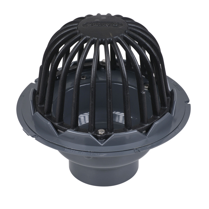 "Oatey® 4"" ABS Roof Drain w/ ABS Dome & Dam Collar"