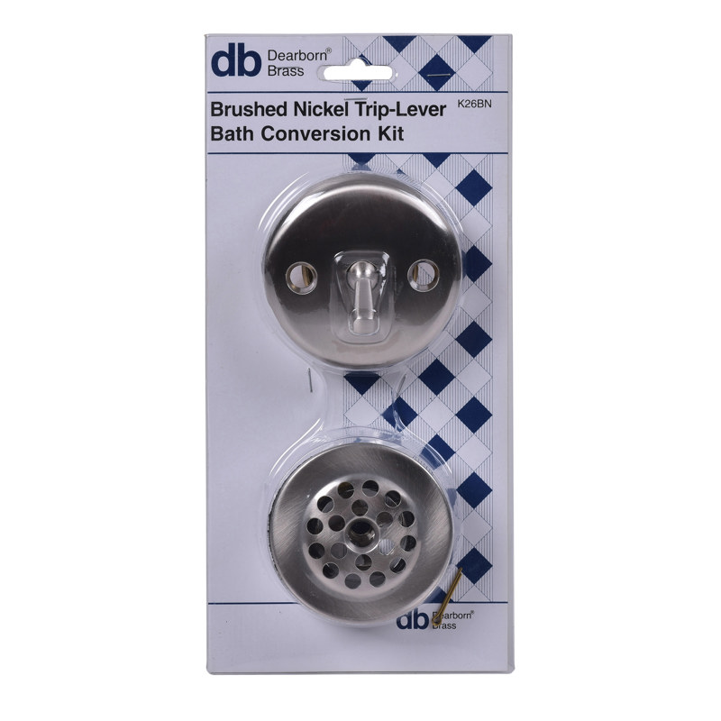 Dearborn® Conversion Kit, Trip Lever Stopper w/ Brushed Nickel Finish Trim