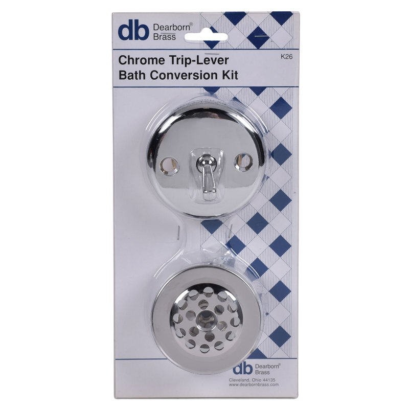 Dearborn® Conversion Kit, Trip Lever Stopper w/ Chrome Finish Trim