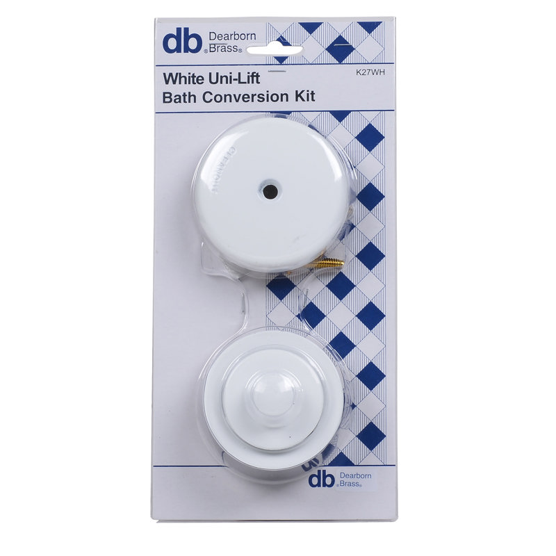 Dearborn® Conversion Kit, Uni-Lift Stopper w/ White Finish Trim