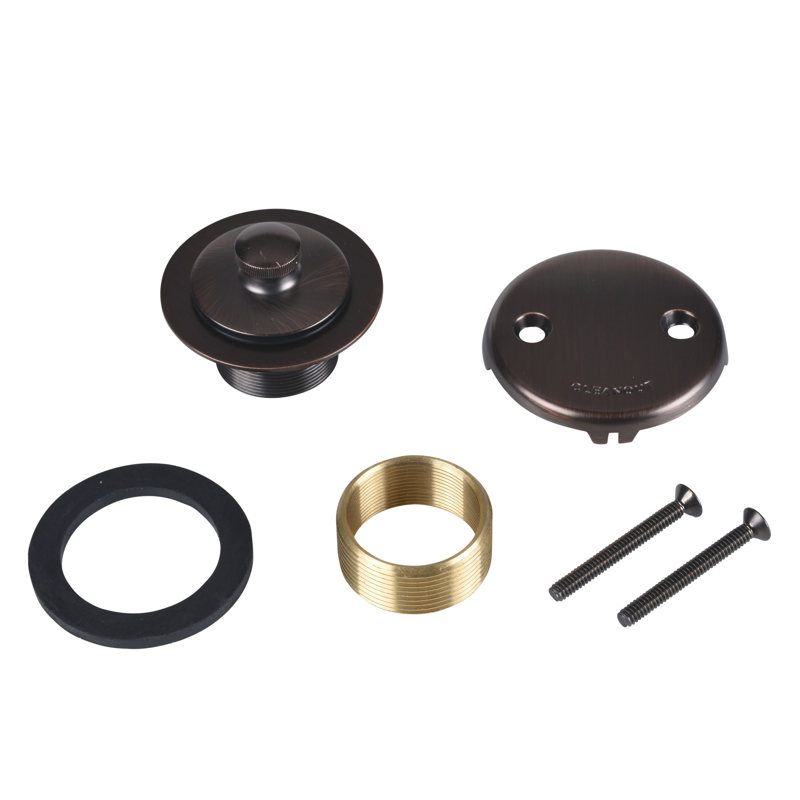 Dearborn® Conversion Kit, w/Two-Hole Cover Plate, Uni-Lift Stopper w/ Rubbed Bronze Finish Trim