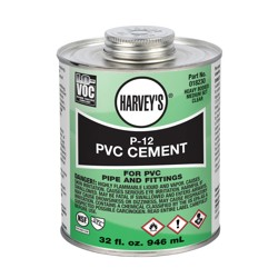 Harvey® 32 oz. P-12 PVC Heavy Body Clear Cement