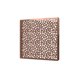038753016047_H_001.png - SquareDrain 6 in. Stones Cover in Polished Rose Gold
