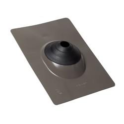 038753118741_H_001.jpg - Oatey® All-Flash® No-Calk® 1.5 in. – 3 in. Galvanized Gray 11 in. x 14.5 in. Base Roof Flashing