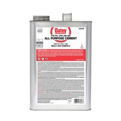 Oatey®Gallon All-Purpose ABS, PVC and CPVC Clear Cement