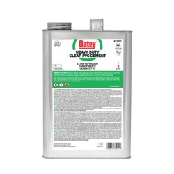 Oatey® Gallon PVC Heavy Duty Clear Cement with Widemouth