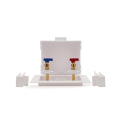 038753385334-01-01.jpg - Oatey® Quadtro, 1/4 Turn, F1960, Washing Machine Outlet Box – Contractor Pack