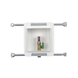 Oatey® Fire Rated, 1/4 Turn, Copper, Hammer, Low Lead, Ice Maker Outlet Box - Standard Pack