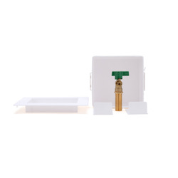Oatey® Square, 1/4 Turn, Copper, Low Lead, Ice Maker Outlet Box - Contractor Pack