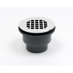 038753420455_H_001.jpg - Oatey® 2 in. 2-Part PVC Solvent Weld Shower Drain with Stainless Steel Strainer