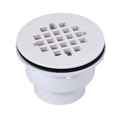038753420493_H_001.jpg - Oatey® 2 in. 2-Part PVC Solvent Weld Shower Drain with Plastic Strainer