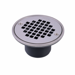 038753422817_H_001.jpg - Oatey® PVC Round Barrel Only Polished Stainless Steel Screw-In Strainer with Ring