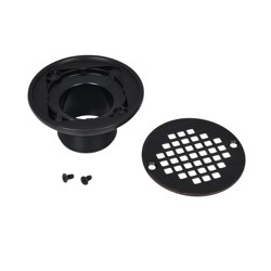 038753422862_H_001.jpg - Oatey® ABS Round Barrel Only Oil Rubbed Bronze Screw-In Strainer with Ring