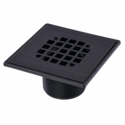 038753422923_H_001.jpg - Oatey® ABS Square Barrel Only Oil Rubbed Bronze Snap-In Strainer with Ring