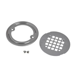 038753423395_H_001.jpg - Oatey® Round Polished Stainless Steel Snap-In Strainer with Ring