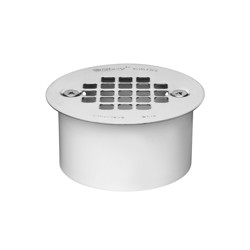 038753435633_H_001.jpg - Oatey® 3 in. PVC Snap-In Drain with 3-1/2 in. Stainless Steel Strainer