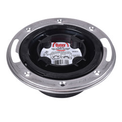 038753436111_H_001.jpg - Oatey® 3 in. or 4 in. Easy Tap Closet Flange, ABS with Stainless Steel Ring