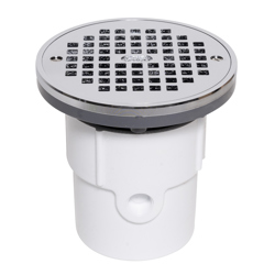 """038753721972_H_001.jpg - Oatey® 3"""" or 4"""" PVC General Purpose Drain w/ 6"""" CHR Grate & Round Ring"""
