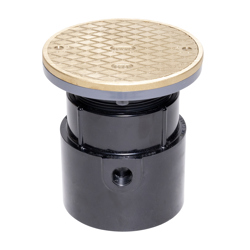 """038753841380_H_001.jpg - Oatey® 4"""" ABS Pipe Base General Purpose Cleanout w/ 6"""" BR Cover & Round Ring"""